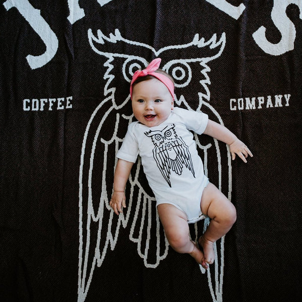 Owl Baby Body Suit James Coffee Co