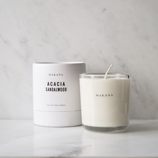 Acacia Sandalwood 10oz Candle Makana James At Home