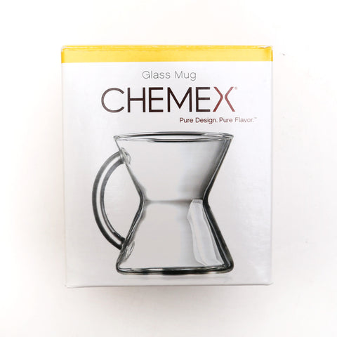 chemex glass mug in packaging