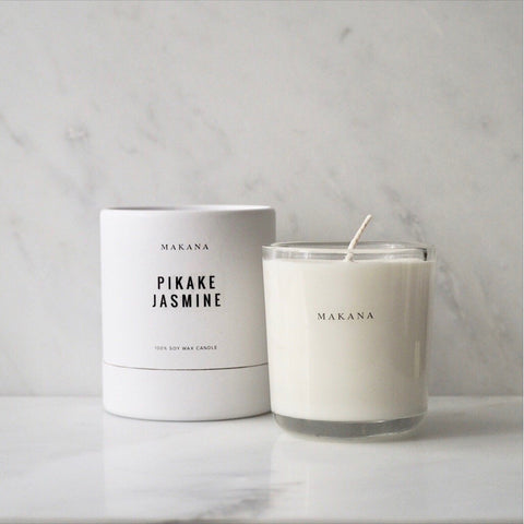 Pikake Jasmine 10 oz candle Makana James At Home