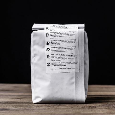 James Coffee Co. White Owl Coffee Beans Brew Guide