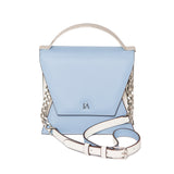 Sky Blue and Cream Mini Nova Top Handle