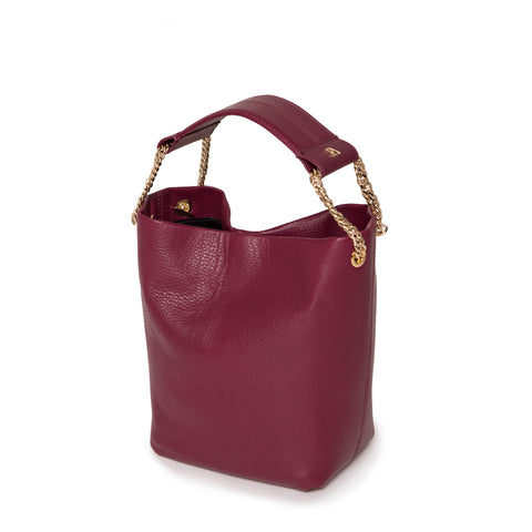 Bordeaux Leia Bucket Bag