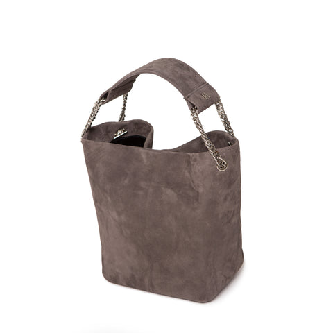 Gray Leia Bucket Bag