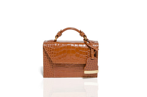 Mini Tan Cynthia Top Handle