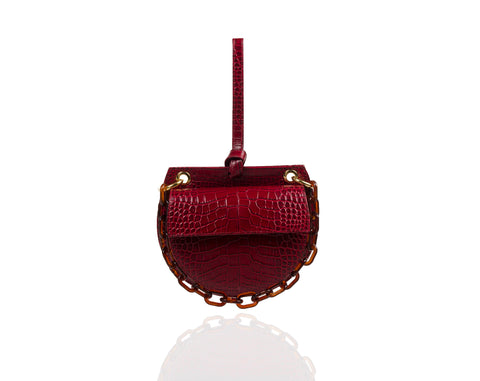Bordeaux Semi Round Tania Bag