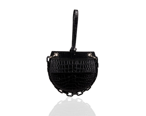 Black Semi Round Tania Bag