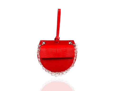 Hot Red Semi Round Tania Bag