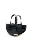 Black Half Moon Reina Bag