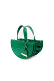 Forest Green Half Moon Reina Bag