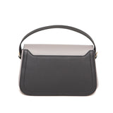 Stone Gray and Black Mira Shoulder Bag