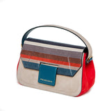 Striped Red Mira Shoulder Bag
