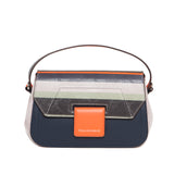 Striped Navy Mira Shoulder Bag