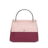 Powder Pink & Bordeaux Nora Top Handle