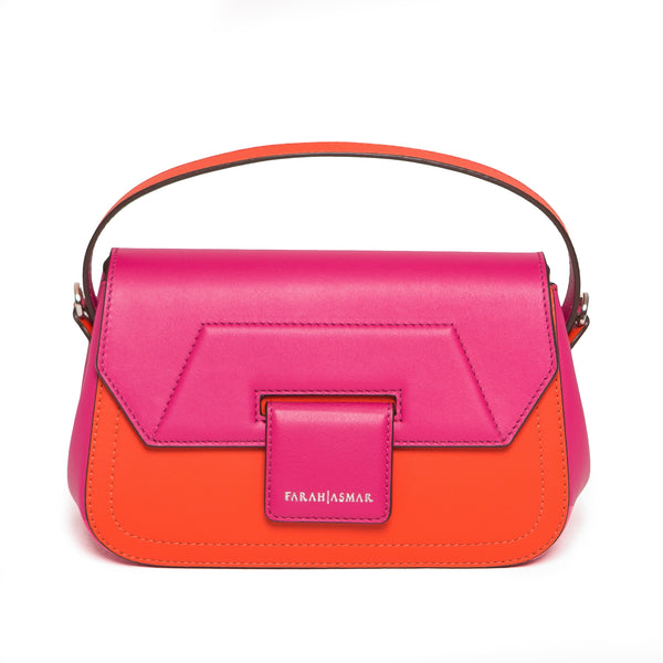 Fuchsia and Orange Mira Shoulder Bag