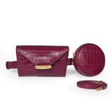 Burgundy Celina Belt bag