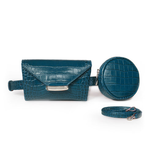 Teal Blue Celina Belt bag