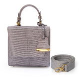 Gray Charlotte box bag
