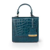Teal Blue Charlotte box bag