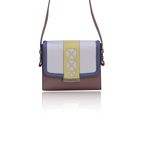 Cream & Beige Anya Cross Bag