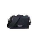 Black Ostrich Mini Jackie O Shoulder Bag