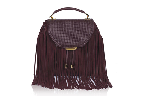 Bordeaux Becky Medium Satchel