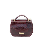 Bordeaux Water Snake Mini Anabella Tote
