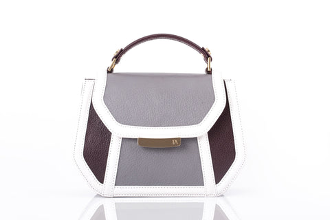Bordeaux & Grey Mini Anabella Tote