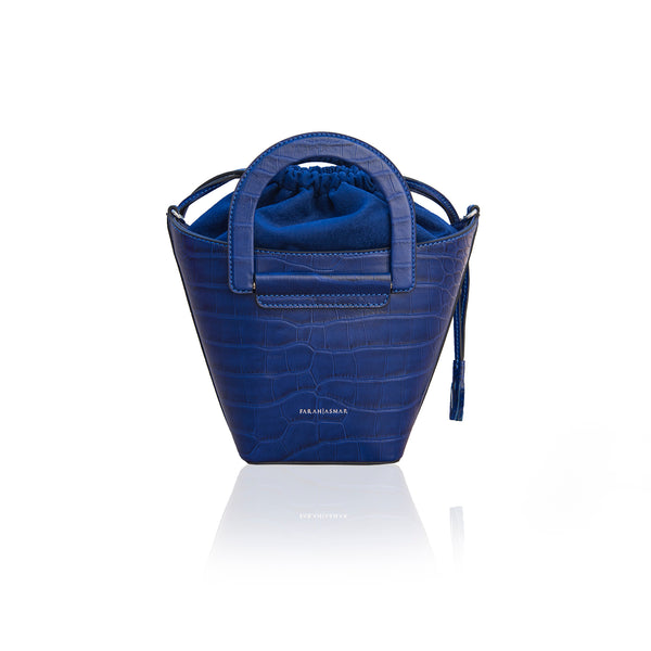 Electric Blue Cleamance Bucket Bag