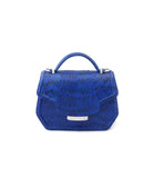 Electric Blue meshed water snake mini Anabella Tote