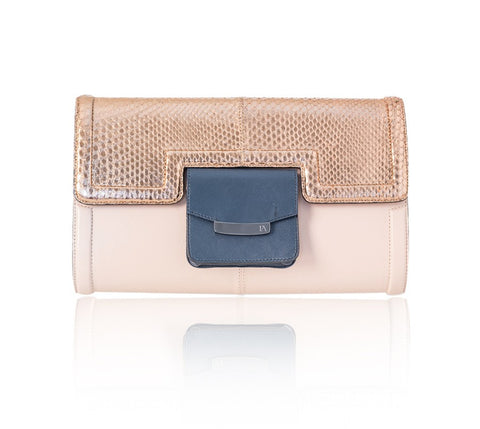 Rose Gold & Powder Pink Serena Clutch