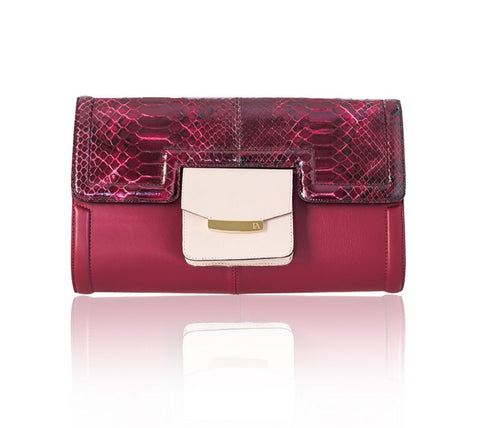 Cherry Red Serena Clutch