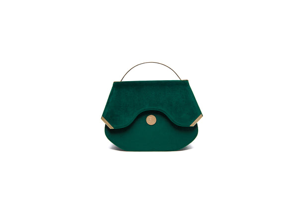 Emerald Velvet Calypso top handle