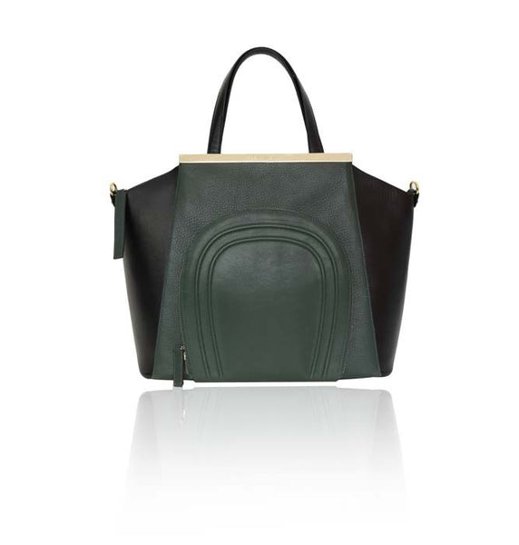 Emerald Green & Black Sharon Tote