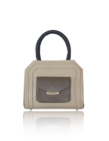 Cream & Kaki Mini Sharon Tote