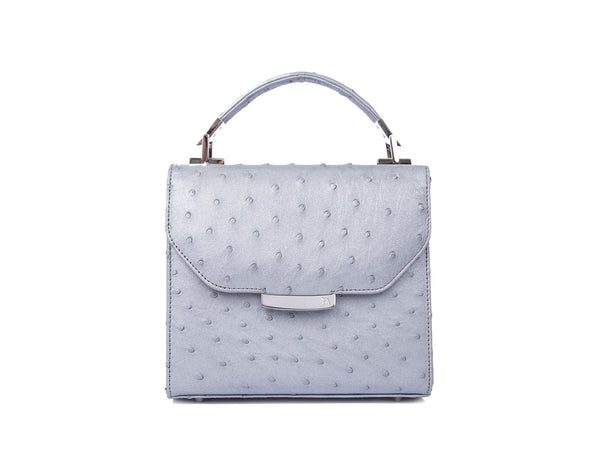 Silver Grey Mini Steffany Tote