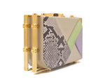 Natural & Cream Linda Geometric Clutch