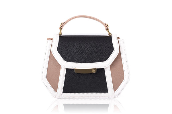 Nude & Black Mini Anabella Tote