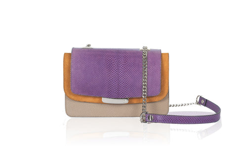 Violet & Nude Mini Jackie O Shoulder Bag