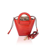 Hot Orange Cleamance Bucket Bag