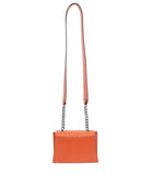 Papaya Orange Ostrich Mini Jackie O Shoulder Bag