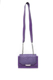 Plum Ostrich Mini Jackie O Shoulder Bag