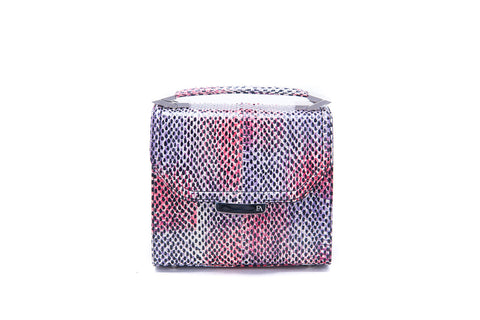 Red & Purple meshed Mini Steffany Tote