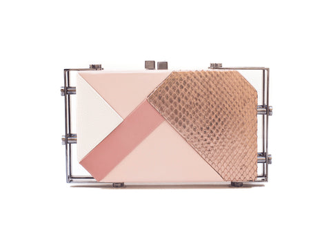 Rose Gold Linda Geometric Clutch