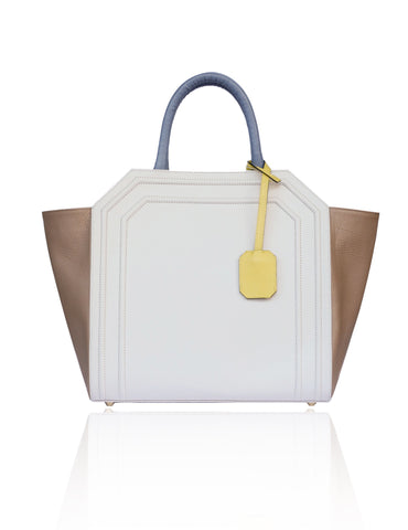Cream & Sand Medium Sharon Tote