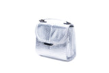Silver water snake Mini Steffany Tote