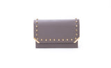 Taupe Kaia Clutch/ shoulder bag