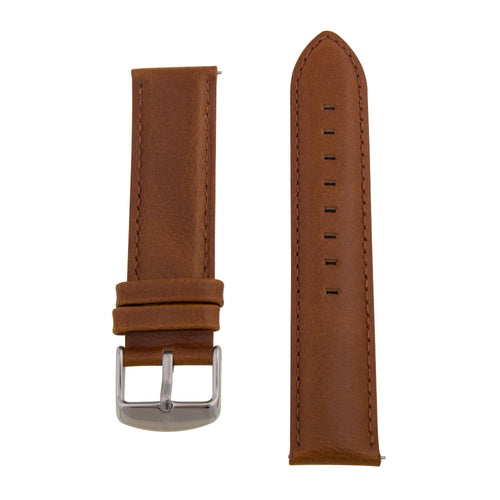 Charles Conrad Brown Leather Strap CDA1006-15-L10 (silver clasp)
