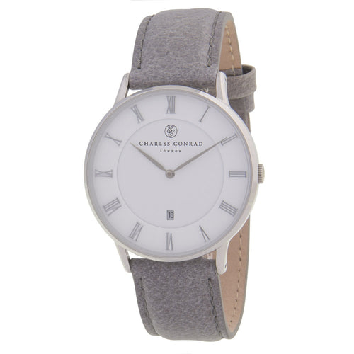 Charles Conrad Silver & Grey Watch CC01008