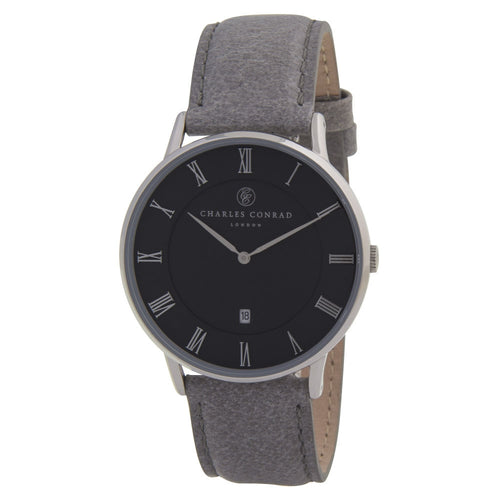 Charles Conrad Black & Grey Unisex Watch CC01019
